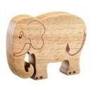 Elephant bois massif