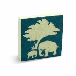 Bloc notes Maman & bébé Elephant bleu
