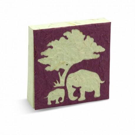 Bloc notes Maman & bébé Elephant mauve