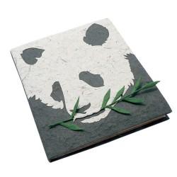 Cahier journal Panda visage