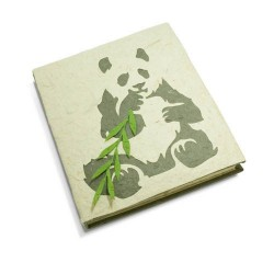 Cahier journal Panda assis