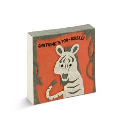 Bloc notes Tête de zèbre - PooPooPaper