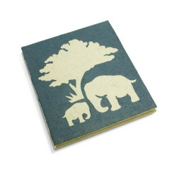Cahier journal Maman et bébé éléphant bleu