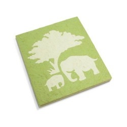 Cahier journal Maman et bébé éléphant vert