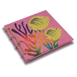 Journal relié Récif coralien rose