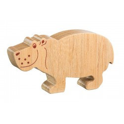 Hippopotame bois massif