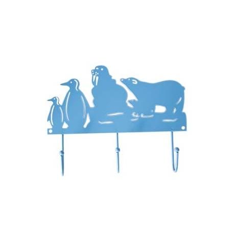 Crochet en métal Pôle Nord - Bleu