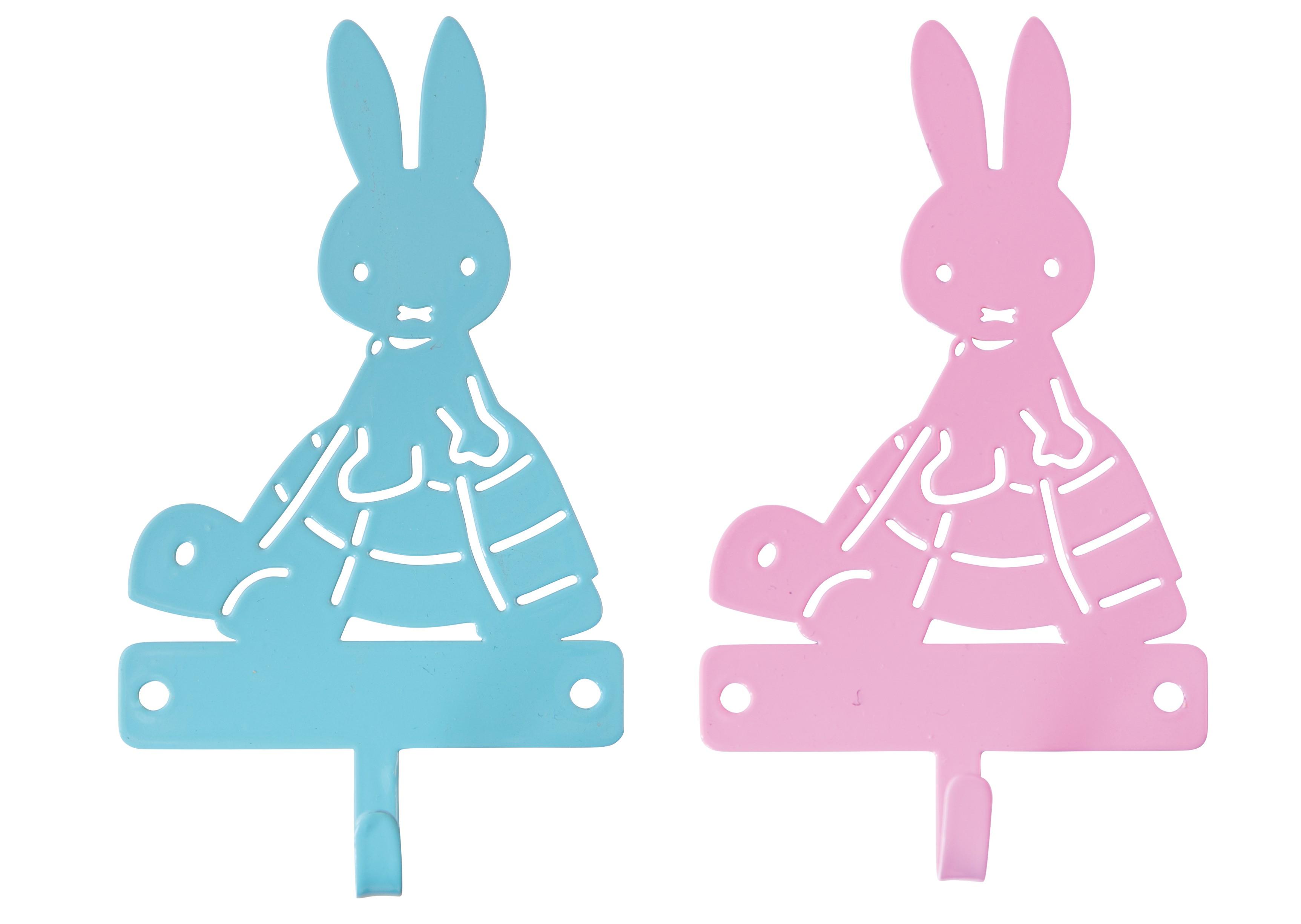 Crochet En Métal Miffy Sur Sa Tortue Bleu