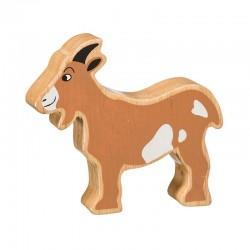 Chèvre bois massif peint