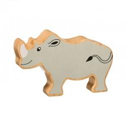 Rhinoceros bois massif peint