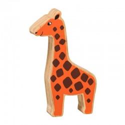 Girafe bois massif peint