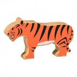 Tigre bois massif peint