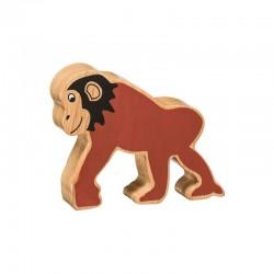 Chimpanzée bois massif peint