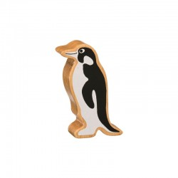 Pingouin bois massif peint