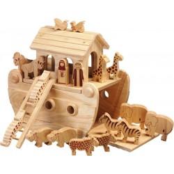 Petite arche de Noé bois naturel