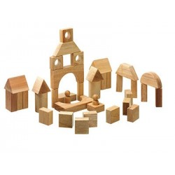 Blocs de construction bois naturel