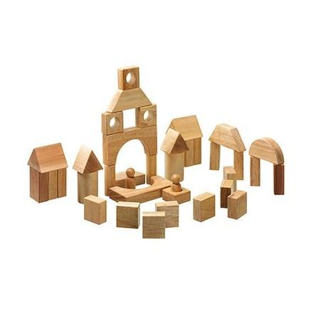 Blocs de construction bois naturel
