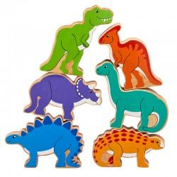 Pyramide van dinosaurussen (tas van 6)
