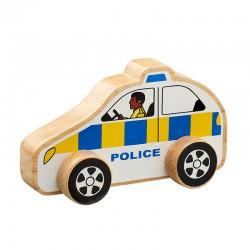Voiture de police en bois 15 cm