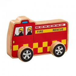 Voiture de pompier en bois 15 cm