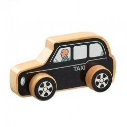 Taxi noir en bois 15cm