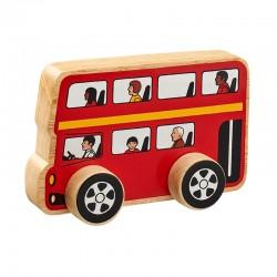 Bus Londres en bois 15cm
