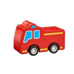 Camion pompier en bois 7cm