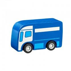 Camion bleu en bois 7cm