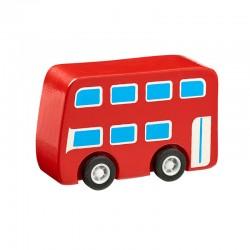 Bus rouge en bois 7cm