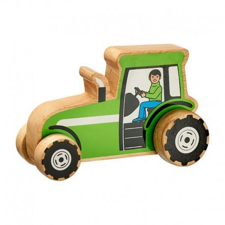 tracteur en bois 15 cm