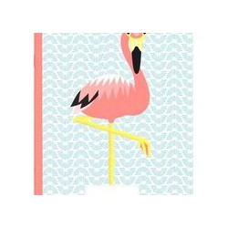 Cahier FSC motif flamand rose