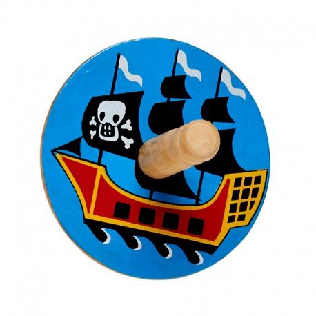 Toupie bateau pirate