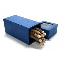 10 Crayons de couleurs dans une boîte