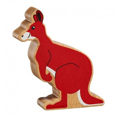 Kangourou bois massif peint