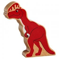 Dilophosaurus bois massif peint