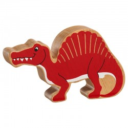 Spinosaurus bois massif peint