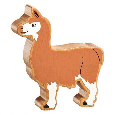 Lama bois naturel peint