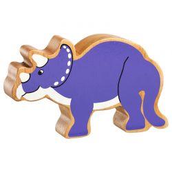Triceratops bois naturel peint