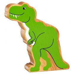 T-Rex bois naturel peint