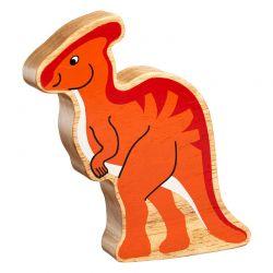 Parasaurolophus bois naturel peint
