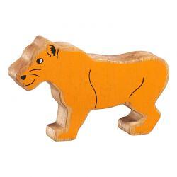Lionne bois naturel peint