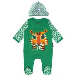 Set pyjama + bonnet motif tigre