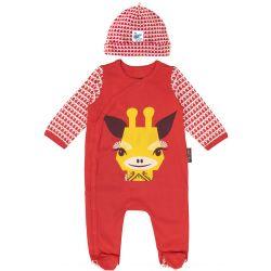 Set pyjama + bonnet motif girafe