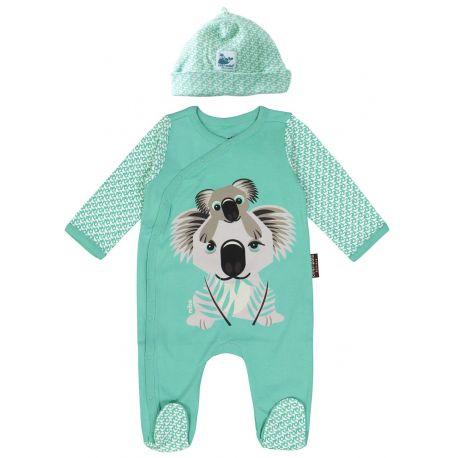 Set pyjama + bonnet motif koala