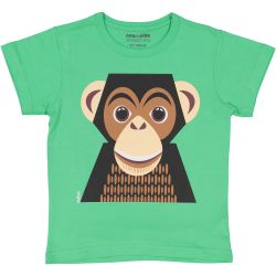 Kind T-shirt korte mouwen Chimpansee
