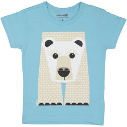 T-shirt enfant manches courtes Ours blanc