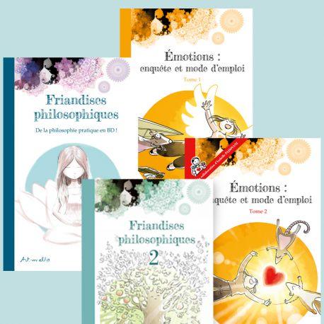 Pack promo 4BDs - Friandises Philosophiques 1&2 + Emotions: Enquête et mode d'emploi 1&2