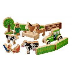 Petit ensemble de la ferme bois naturel peint