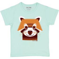 T-shirt enfant manches courtes Panda roux