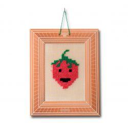 kit canevas fraise
